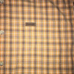 Carhartt Shirts - Carhartt Short Sleeve Button Up Plaid Orange Small